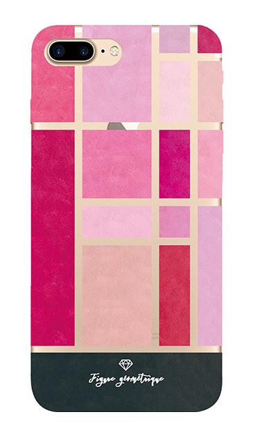 iPhone7 Plusのクリア(透明)ケース、ツインモンドリアンパレット【スマホケース】