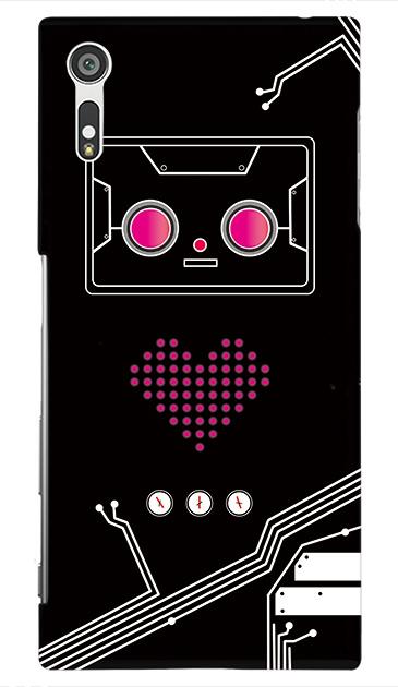 Xperia XZのケース、ハートロボット【スマホケース】