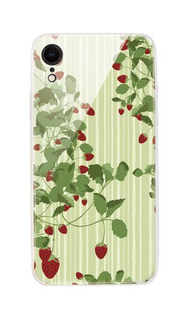 iPhoneXRのケース、ラブストロベリー【スマホケース】