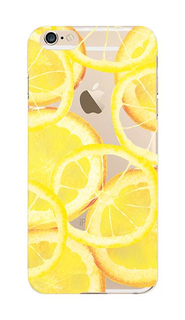 iPhone6sのクリア(透明)ケース、レモン【スマホケース】