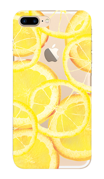 iPhone7 Plusのクリア(透明)ケース、レモン【スマホケース】