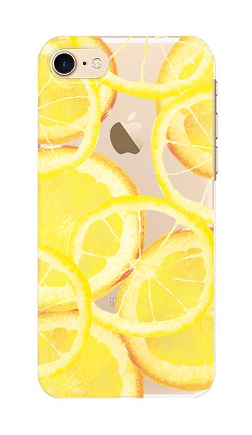iPhone8のクリア(透明)ケース、レモン【スマホケース】