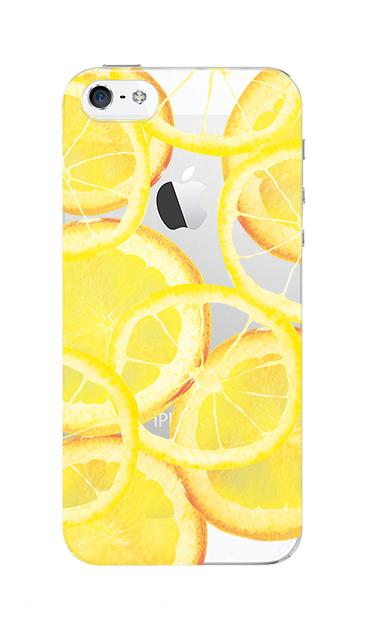 iPhoneSEのクリア(透明)ケース、レモン【スマホケース】