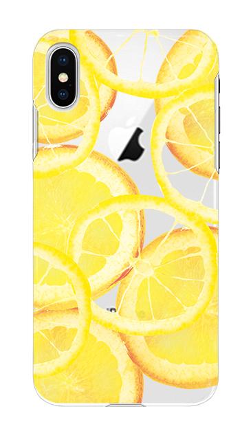 iPhoneXのケース、レモン【スマホケース】