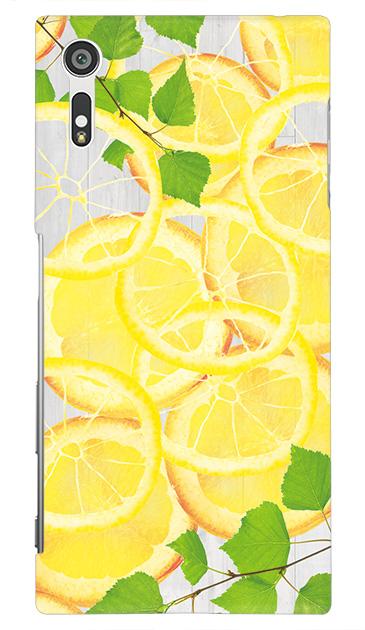Xperia XZのハードケース、レモン【スマホケース】