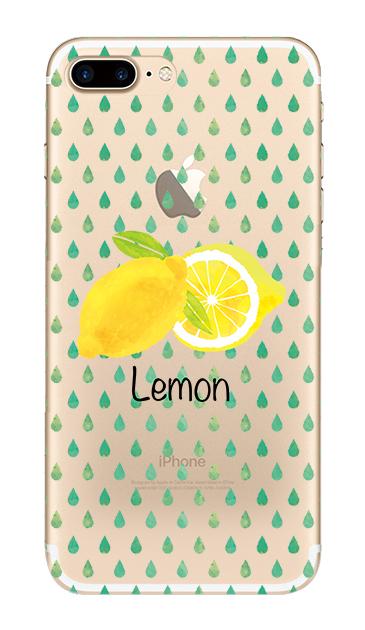 iPhone7 Plusのクリア(透明)ケース、lemon【スマホケース】