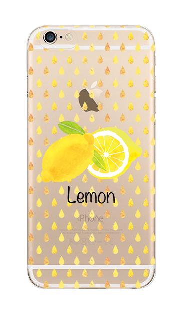 iPhone6sのクリア(透明)ケース、lemon【スマホケース】