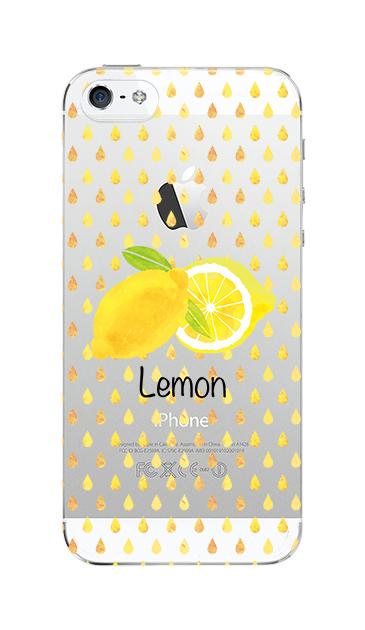 iPhoneSEのクリア(透明)ケース、lemon【スマホケース】