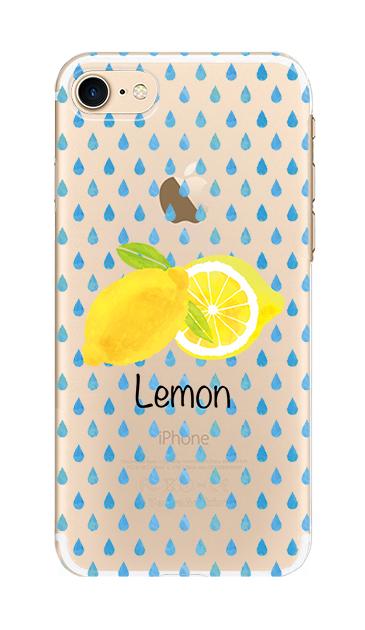 iPhone7のクリア(透明)ケース、lemon【スマホケース】