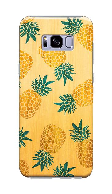 Galaxy S8+のケース、弾けパイナップル【スマホケース】