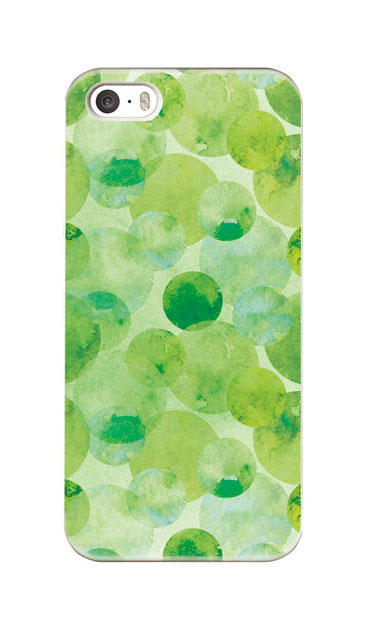 iPhoneSEのハードケース、水彩シャボン【スマホケース】