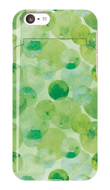 iPhone6sのミラー付きケース、水彩シャボン【スマホケース】