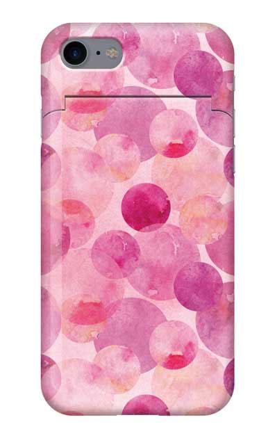 iPhone8のミラー付きケース、水彩シャボン【スマホケース】