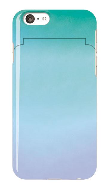 iPhone6sのミラー付きケース、水彩グラデーション【スマホケース】