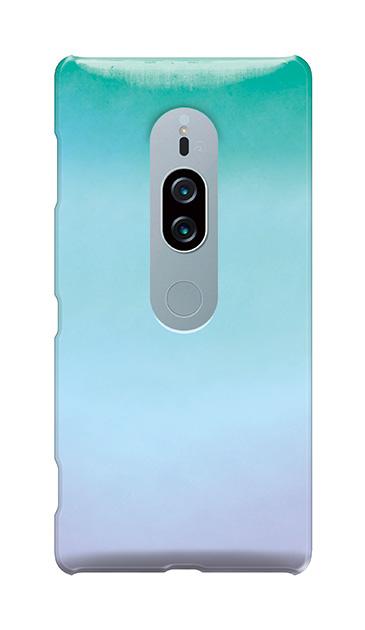 Xperia XZ2 Premiumのケース、水彩グラデーション【スマホケース】