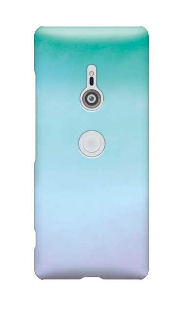 Xperia XZ3のケース、水彩グラデーション【スマホケース】