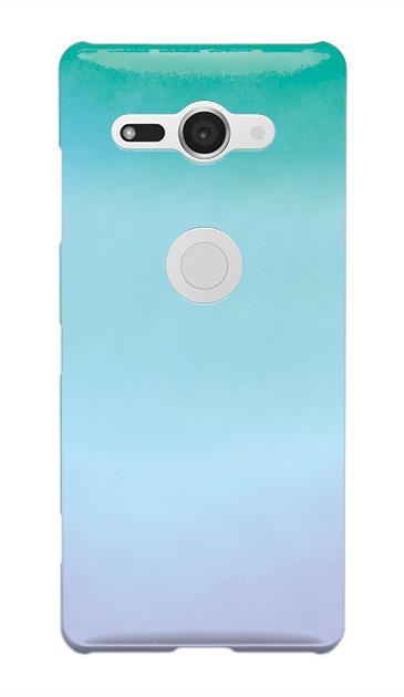 Xperia XZ2 Compactのケース、水彩グラデーション【スマホケース】