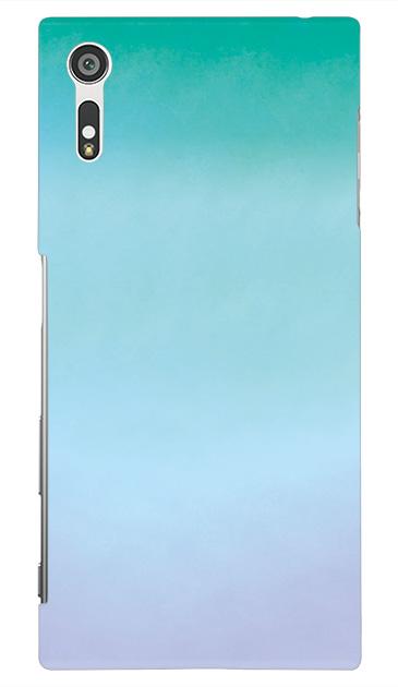 Xperia XZのハードケース、水彩グラデーション【スマホケース】