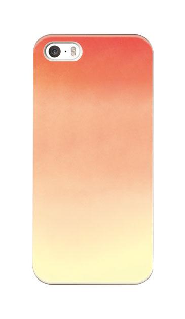 iPhoneSEのハードケース、水彩グラデーション【スマホケース】