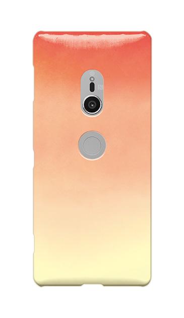 Xperia XZ2のケース、水彩グラデーション【スマホケース】