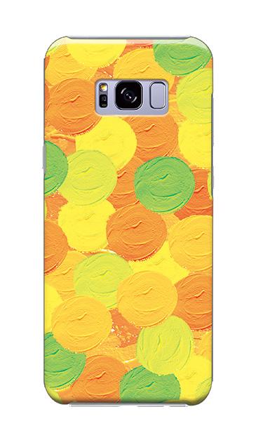 Galaxy S8+のケース、まんまるペンキ【スマホケース】