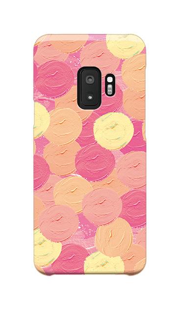 Galaxy S9のケース、まんまるペンキ【スマホケース】
