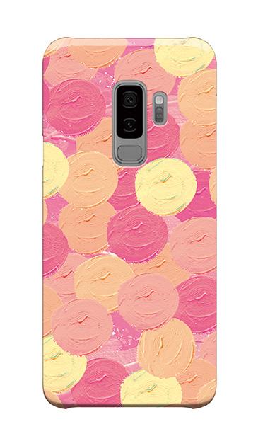 Galaxy S9+のケース、まんまるペンキ【スマホケース】