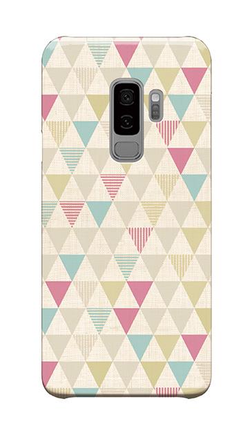 Galaxy S9+のケース、三角パレット【スマホケース】