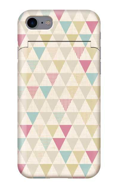 iPhone8のミラー付きケース、三角パレット【スマホケース】