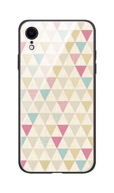 iPhoneXRのケース、三角パレット【スマホケース】