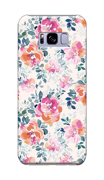 Galaxy S8+のケース、エレガントフラワー【スマホケース】