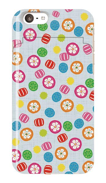 iPhone6sのミラー付きケース、手まり飴【スマホケース】