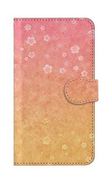 iPhoneXSのケース、和桜グラデーション【スマホケース】
