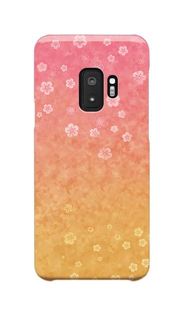Galaxy S9のケース、和桜グラデーション【スマホケース】