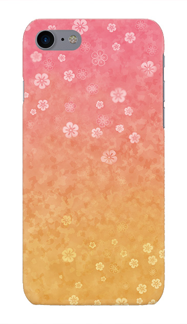iPhone8のケース、和桜グラデーション【スマホケース】