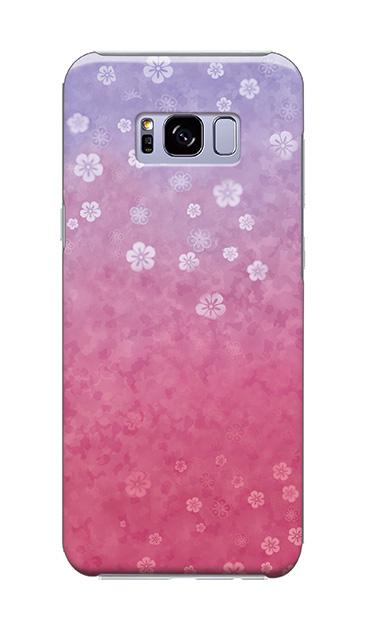 Galaxy S8+のケース、和桜グラデーション【スマホケース】