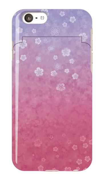 iPhone6sのミラー付きケース、和桜グラデーション【スマホケース】