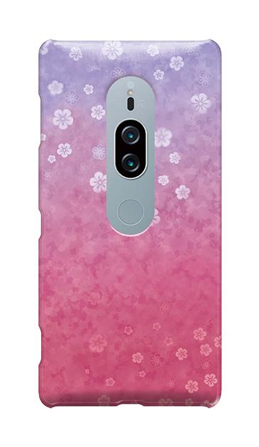 Xperia XZ2 Premiumのケース、和桜グラデーション【スマホケース】