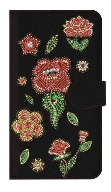 iPhone7のケース、ビーズ刺繍フラワー【スマホケース】