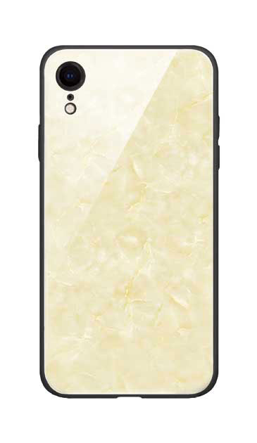 iPhoneXRのガラスケース、新エレガント大理石【スマホケース】