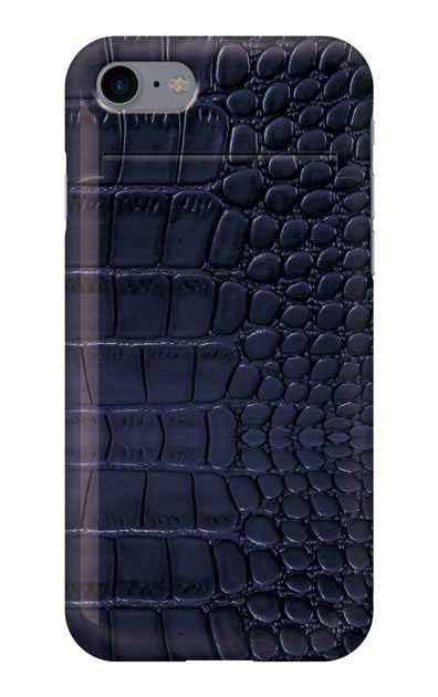 iPhone8のミラー付きケース、クロコダイル【スマホケース】