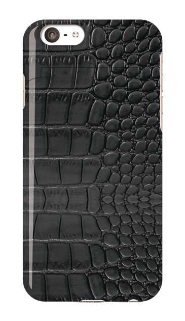 iPhone6sのミラー付きケース、クロコダイル【スマホケース】