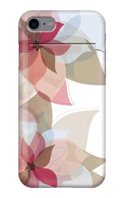iPhone8のミラー付きケース、シフォンフラワー【スマホケース】