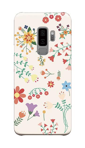 Galaxy S9+のケース、キュートな花柄【スマホケース】