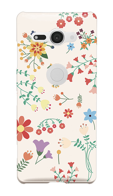 Xperia XZ2 Compactのハードケース、キュートな花柄【スマホケース】