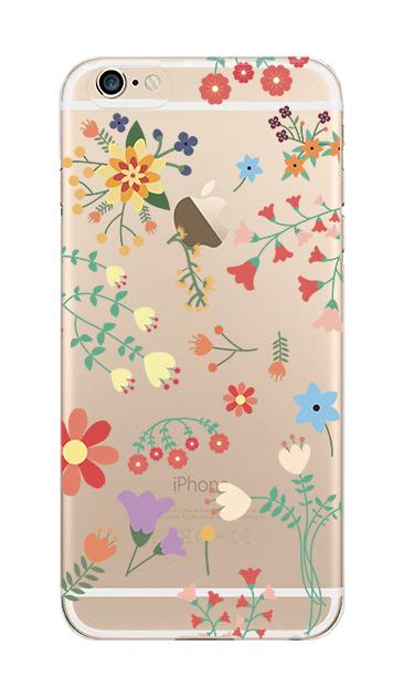 iPhone6sのクリア(透明)ケース、キュートな花柄【スマホケース】