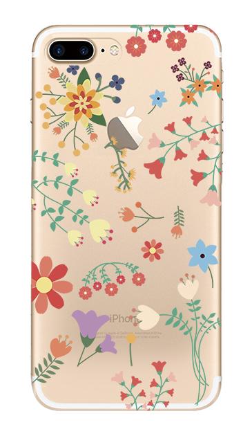 iPhone8 Plusのケース、キュートな花柄【スマホケース】