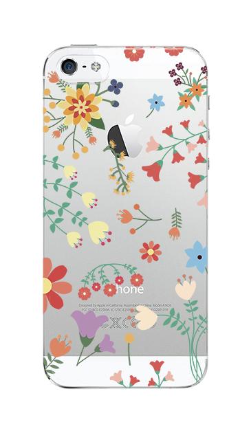 iPhoneSEのケース、キュートな花柄【スマホケース】