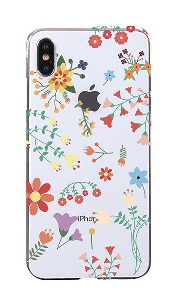 iPhoneXS Maxのケース、キュートな花柄【スマホケース】