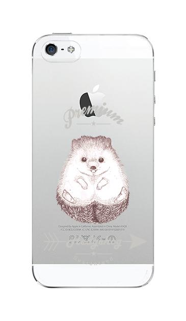 iPhone5Sのクリア(透明)ケース、プレミアムハリネズミ【スマホケース】